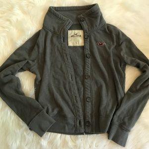 HOLLISTER Button Down Sweatshirt